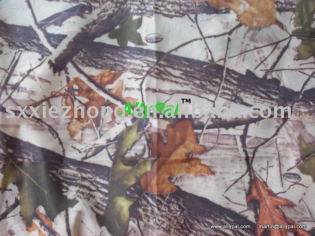 Pu coating 190T taffeta camo fabric