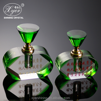 Hot Sale Mini 3ml Small Green Crystal Perfume Bottle For Car