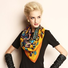 Fashionable yellow color Silk Scarf