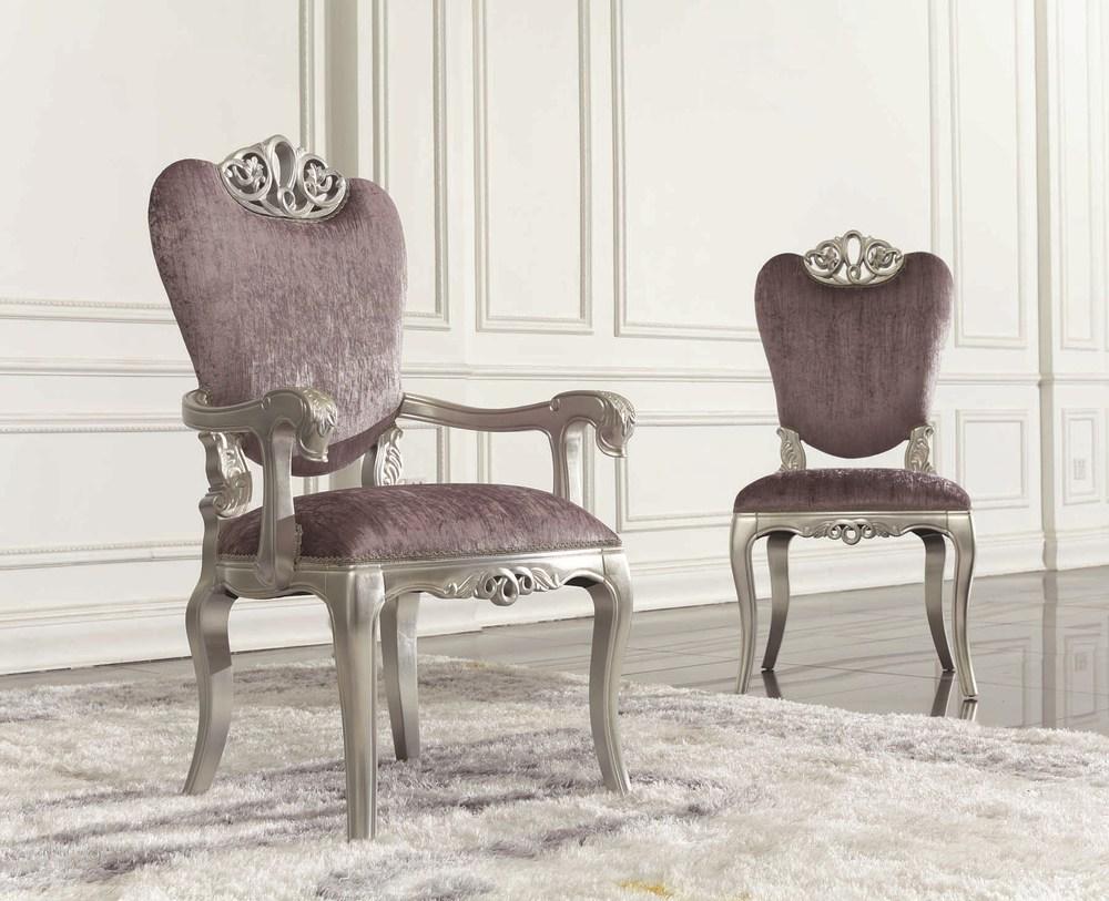 2015 Picture Design Silver Pink Velvet Chair In Foshan