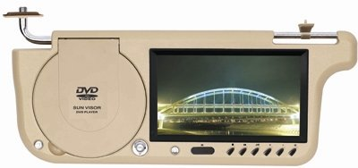 Sun Visor Monitor With DVD Player,