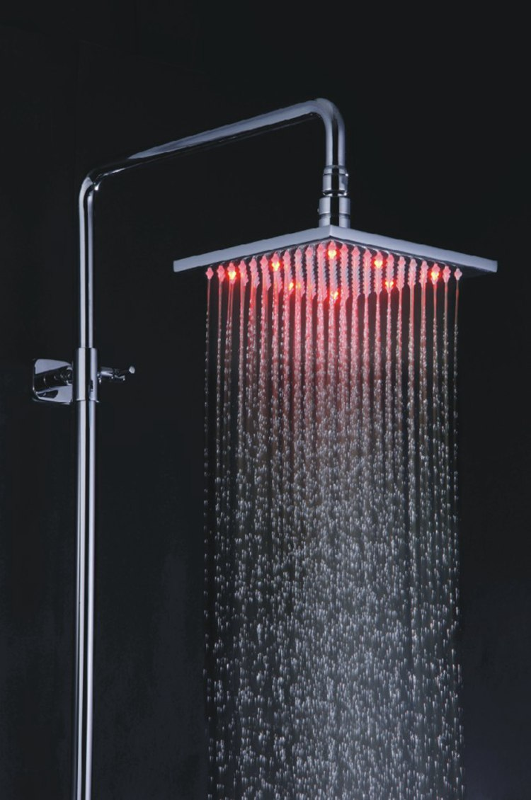 Custom Printing Logo Low Price Spa Glass Led Light Rain Shower ...