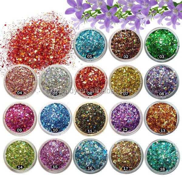 Yiwu Wholesale Nail Art Glitter Powder Charm Uv Gel Acrylic Ab Color ...