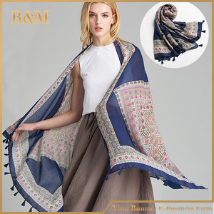 2017 Hot New Design National Wind shawl scarf female temperament elegant