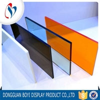 Customize Heat Resistant Transparent Gold 1mm Thick Acrylic Mirror