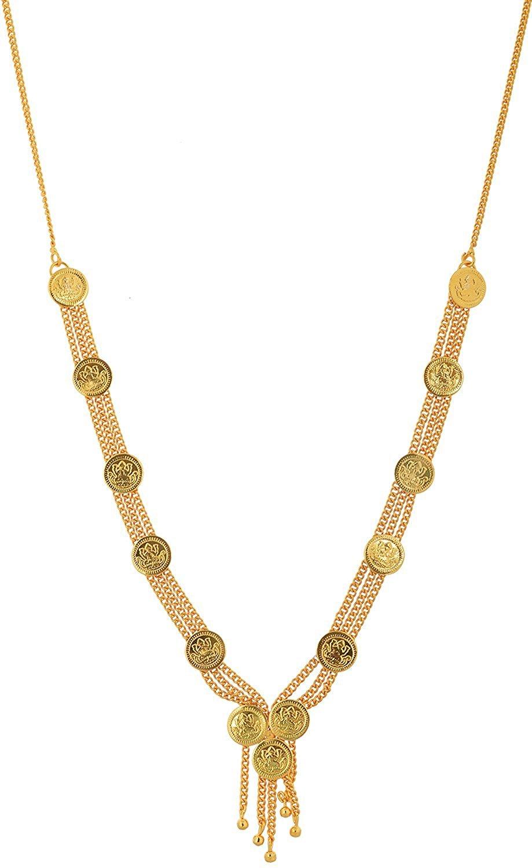Handicraft Kottage Women's Fashion Jewelry Gold Metal Multi-Strand Necklace (HK-ANG-9002)
