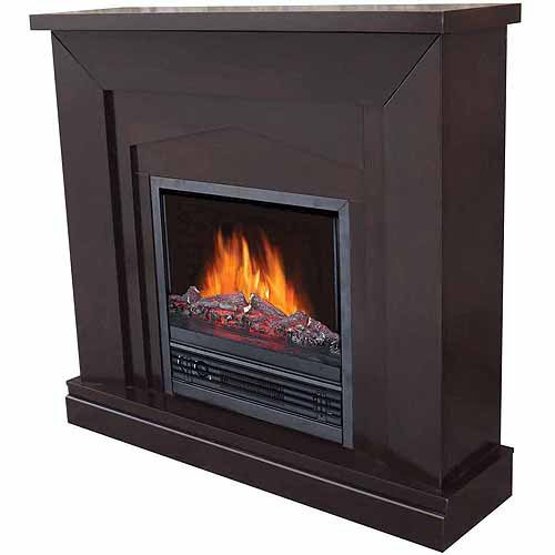 """Electric Fireplace with 47"""" Mantle, Dark Chocolate"""