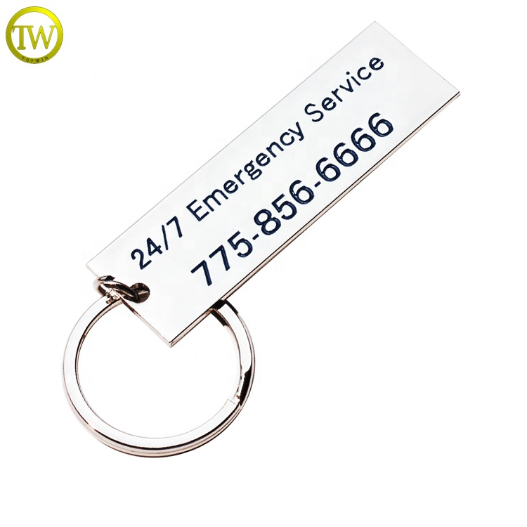 Good quality Metal customized logo enrgaved keychain dog tag