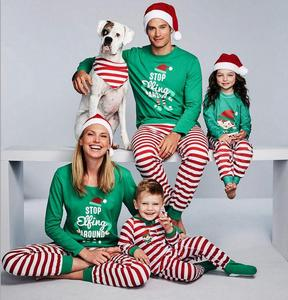 2018 wholesale print christmas holiday family pajamas matching family  christmas pajamas 35505aaad