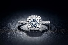 Engagement rings for women White gold Filled wedding ring CZ diamond jewelry Trendy bague luxury bijoux