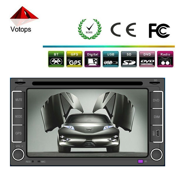 hot sell car dvd player with gps ipod OEM