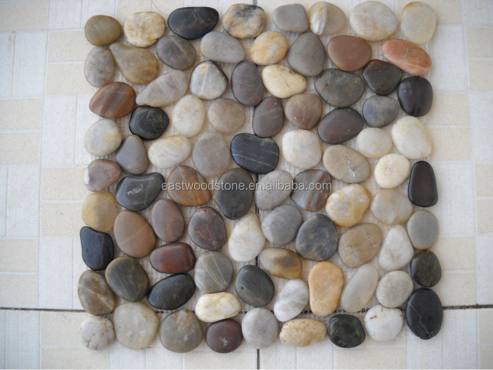 Style Selections River Rock Multicolor Flat Polished Pebble Mosaic Indoor And Outdoor Wall Tiles
