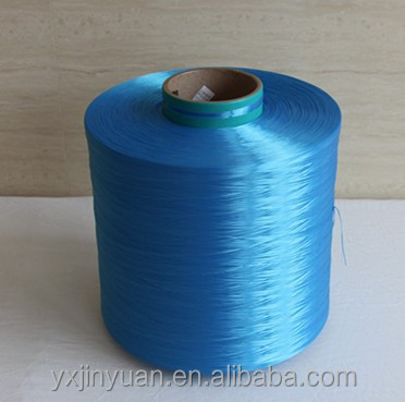 blue color 100% PET dope dyed High Tenacity Polyester yarn