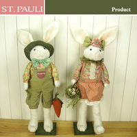 alibaba china supplier newest standing bunny and gift type easter decoration