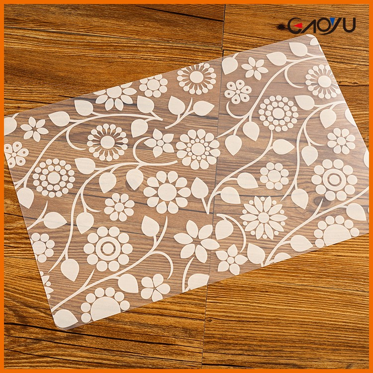 China Supplies Family Table Decoration PVC Clear Custom Plastic Placemat