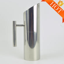 Stainless Steel Water Pitcher with Ice Guard, Straight Pot Frozen Unboiled Water Cooler for Bar 1 liter 1000ml