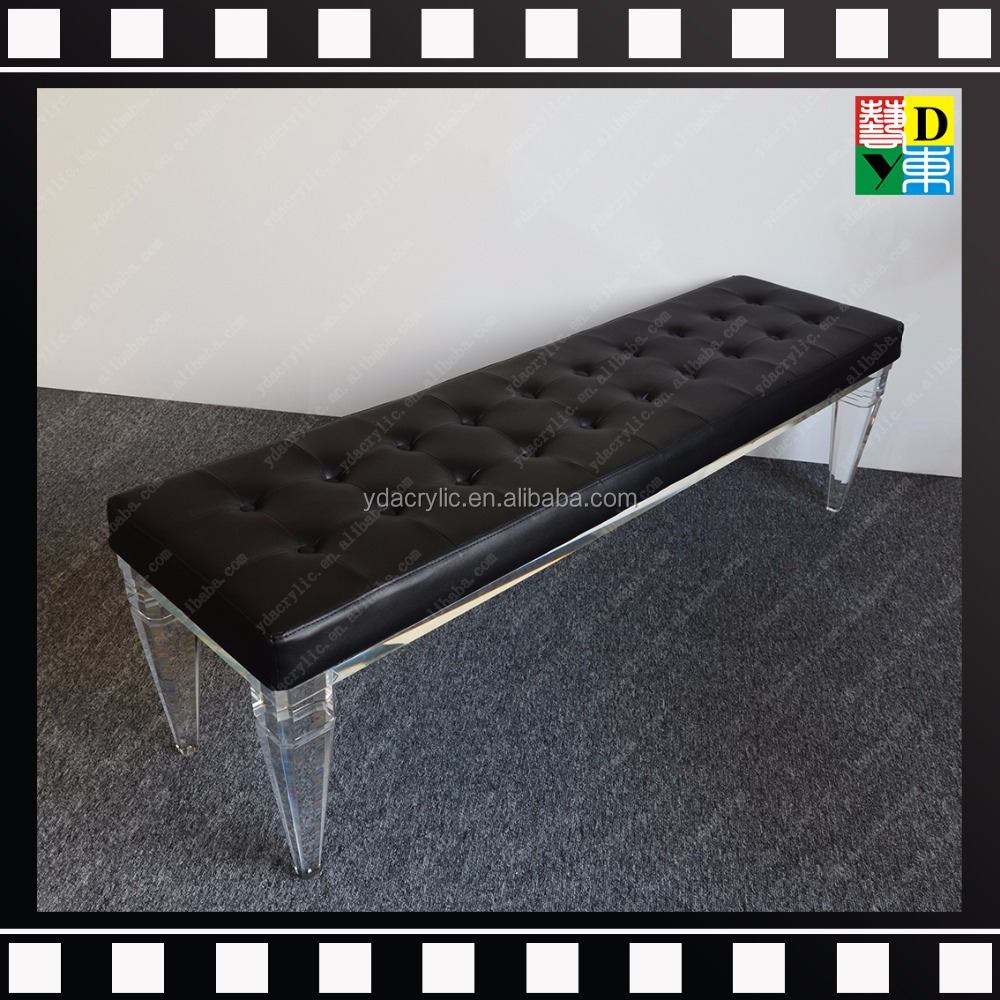 gro handel moderne kristall acryl hocker f r dusche lucite acryl bank mit kissen transperant. Black Bedroom Furniture Sets. Home Design Ideas