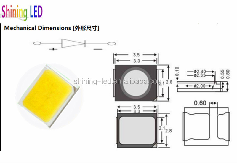 Daylight White 0.2w Smd 2835 Led Datasheet Pdf