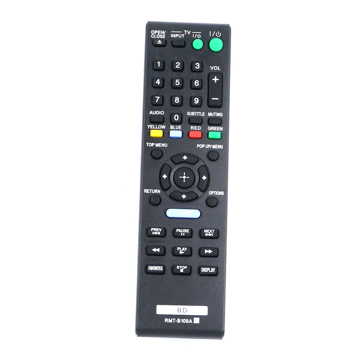 ZdalaMit New RMT-B109A Universal Remote Control fit for Sony Blu-Ray DVD Player BDP-BX58 BDP-S480 BDP-S483 BDP-S580 BDP-S380 BDP-S280 BDP-S480 BDP-S580WM BDP-S580/WM