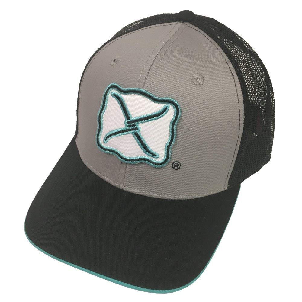24276090853 Get Quotations · Twisted X Brand Grey Teal w Logo Snapback Hat - XC-54