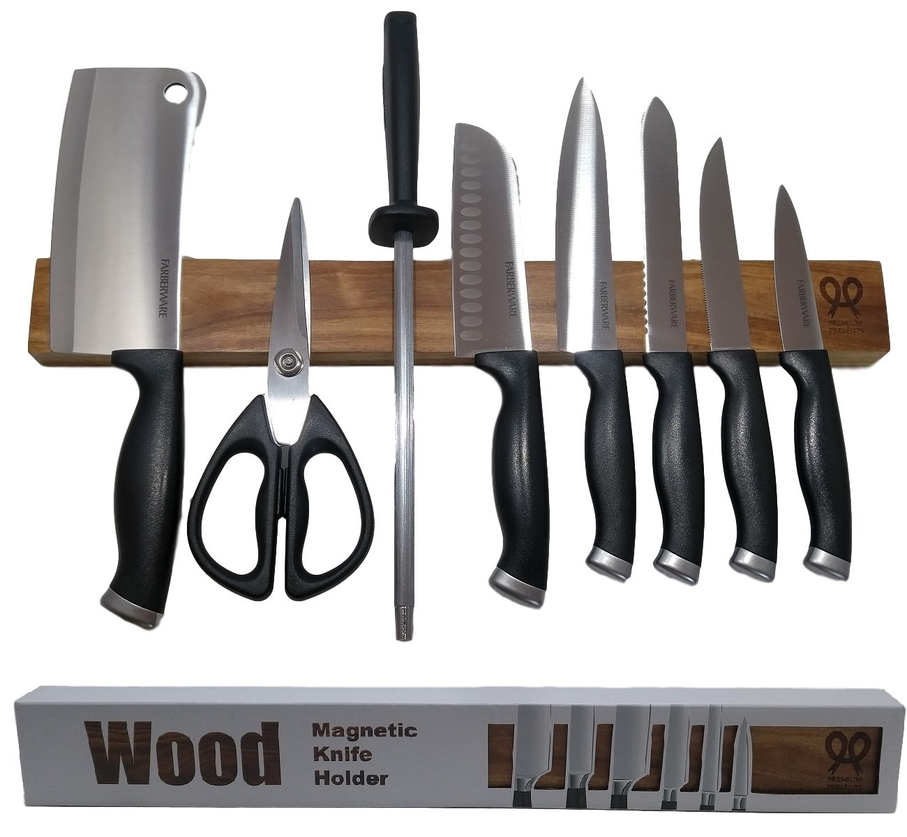 Attirant Get Quotations · Walnut Wood Magnetic Knife Strip. Replace Knife Block With  This Magnetic Knife Holder. Great