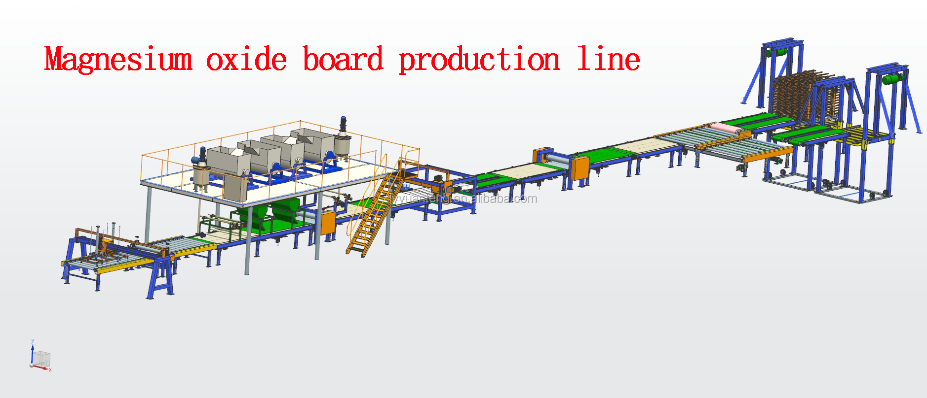 Glass magnesium board production line is made in China with famous brand