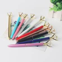 Colourful promotional big diamond crystal ball pen with diamond top gift metal pen
