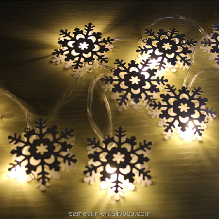 Meilun Art & Craft Iron snowflake Christmas led string lights