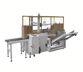 Automatic cardboard carton box case erector machine