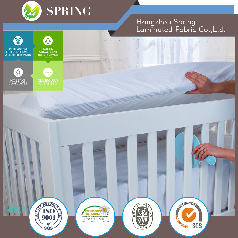 Waterproof Fitted Bamboo Crib and Toddler Mattress Protector - 28X52+9""