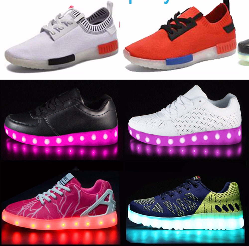 FAST SHIPPING Low MOQ original high quality LED tread led sneakers