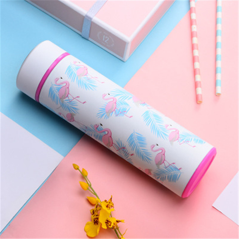 Hot Girls Student Flamingo Cactus Thermos Cups 304 Stainless Steel Hot and Cold Water Tumbler