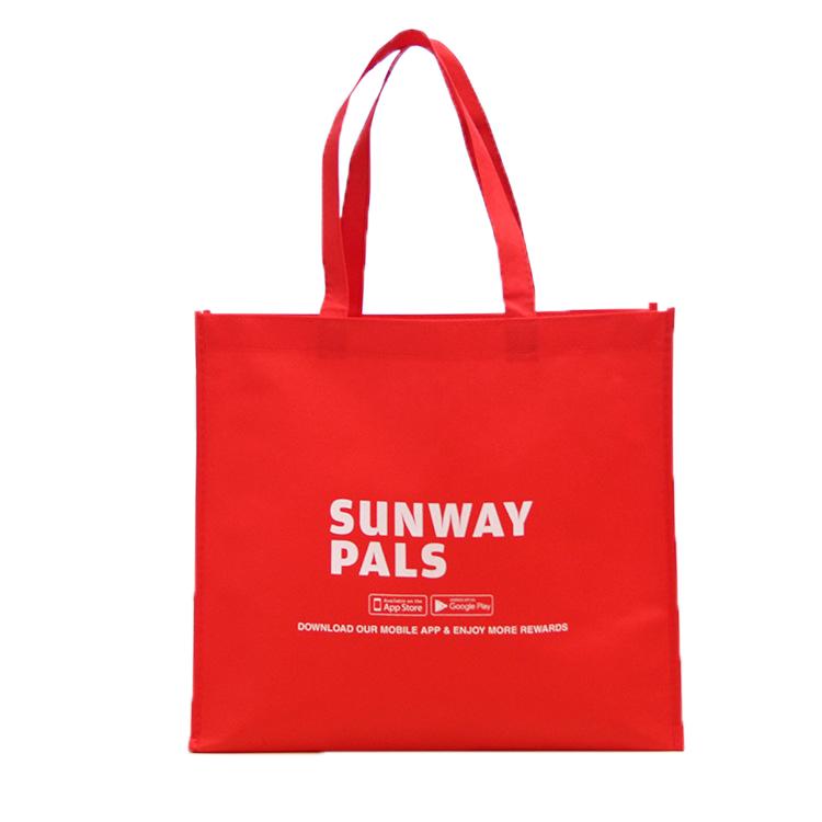 Logotipo personalizado Impresso Barato Reutilizáveis colorido não-tecido saco de Compras