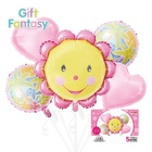 Amazon Sunflower Shape foil set Balloon for Children Birthday Party Decoration Accessories Baby Toy Scene Decoration