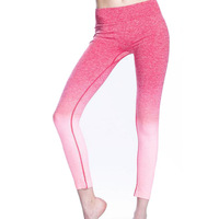 Women Clothing 2019 Yoga Wear Full Length Two Tone Ombre Pants Workout Legging