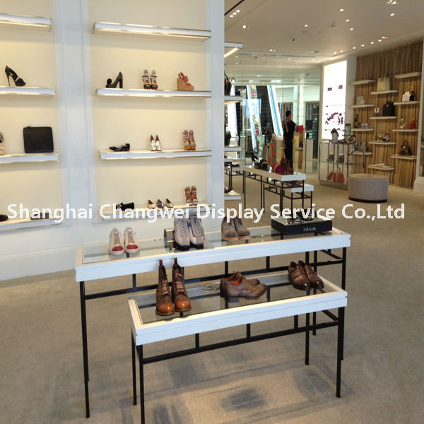 Retail Women Shoes Display Cabinet Table Desk Bag