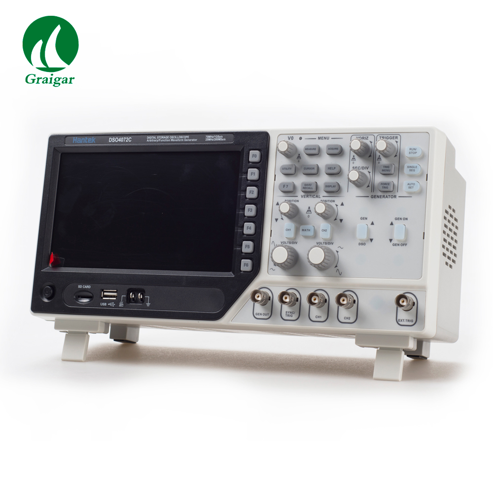 Free Shipping DSO4072C 2 Channel Digital Oscilloscope,DSO4072C 1 Channel Arbitrary Waveform Generator