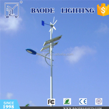 Road lighting 60/70/80/100W solar Led lights with street light lamps pole