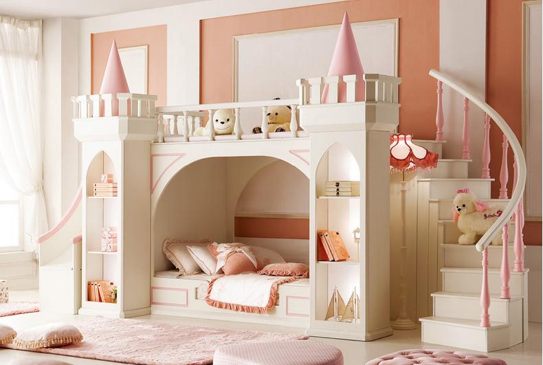 2017 Princess bedroom furniture Latest design Royal castle small ...