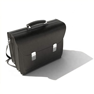 High quality mens genuine leather handle business briefcase bag