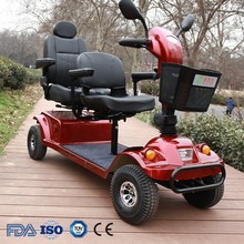 Outdoor 4 wheel folding electric 2 seat mobility scooter