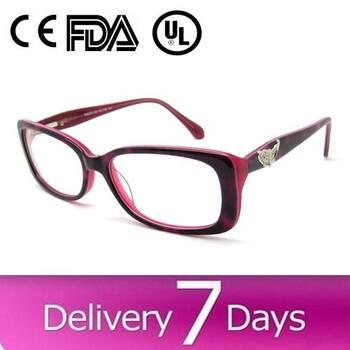 New Model Eyewear Frame Glasses Women Acetate Cheap Eyeglass Frame ...