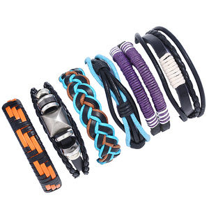 Fashion jewelry wrap DIY hand bands manly leather bracelets