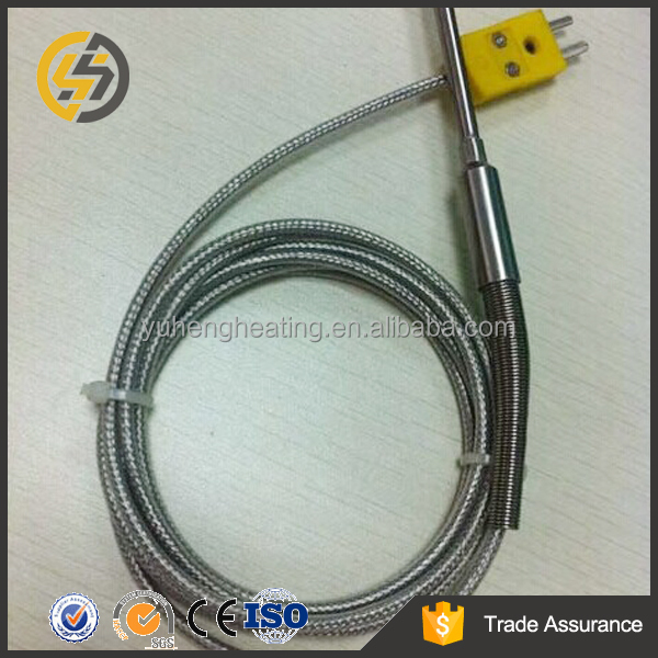 K type Coiled Cords Thermocouple With Molded Mini Plug