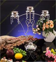 3 arms wedding elegant decorative candelabras / metal candle holder centerpiece