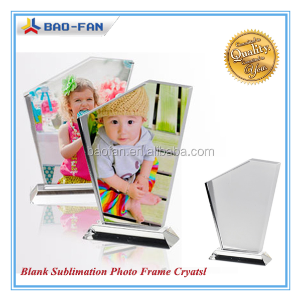3D Sublimation Crystal Blank Crystal Photo Frame Sublimation Trapeziform Shape Crystal