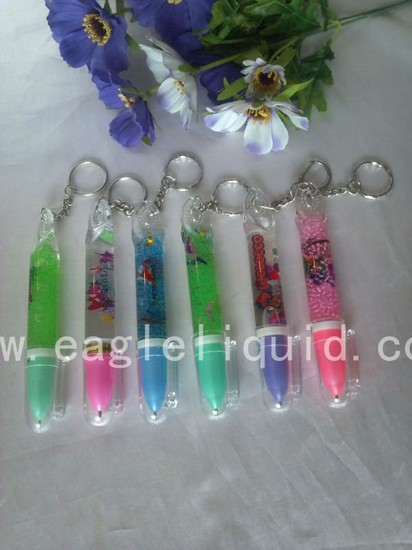corporate promotional gift items pen with keychain,promotional cello pen
