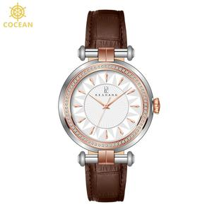 small face crocodile brown leather quartz wristwatches diamond dress lady fashion bracelet timepieces