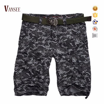 men's blue navy digital camo 6 pockets cargo shorts army camouflage