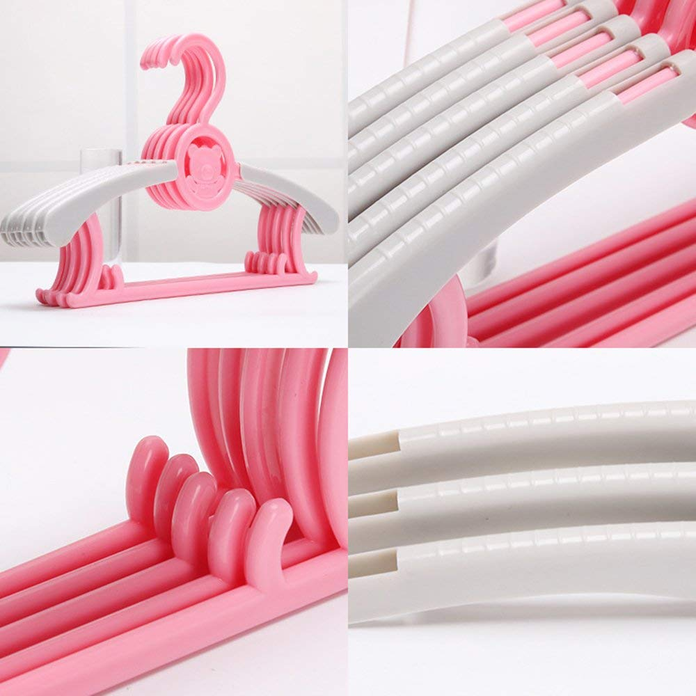 d0b4ae7888 Get Quotations · Hollited  5pcs Extensible Plastic Childrens Clothes Hangers   Coat Hangers